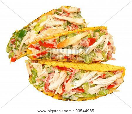 Chicken And Salad Filled Tacos