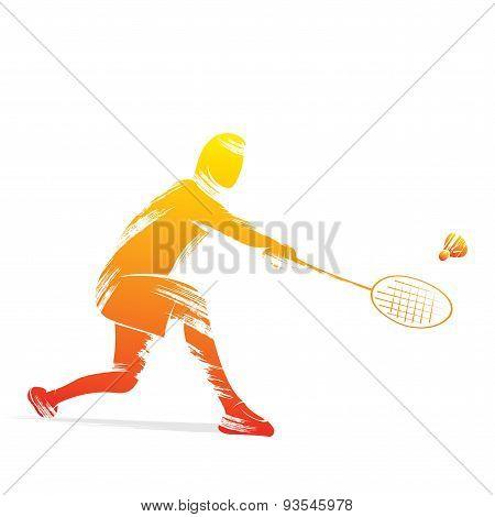 badminton player design