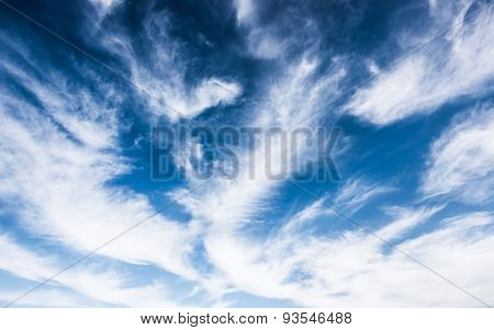 bridht blue sky with clouds