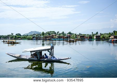 Dal Lake At Srinagar, Kashmir, India