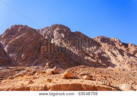 Views of Mount Moses in Sinai