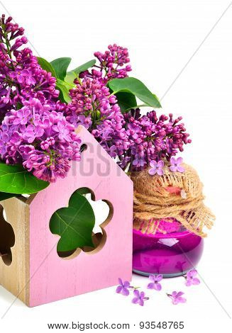 Lilac Flower, Shower Gel Isolated