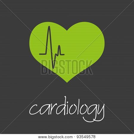 Cardiology Heart Design Banner And Background Eps10
