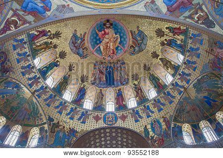 Interior Of The Naval Cathedral Of Saint Nicholas In Kronstadt, St. Petersburg