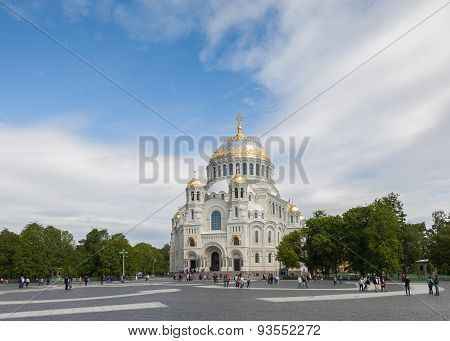 The Naval Cathedral Of Saint Nicholas In Kronstadt, Saint Petersburg