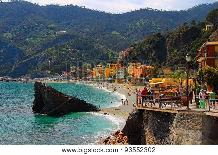 Beautiful beach on the Monterosso al Mare