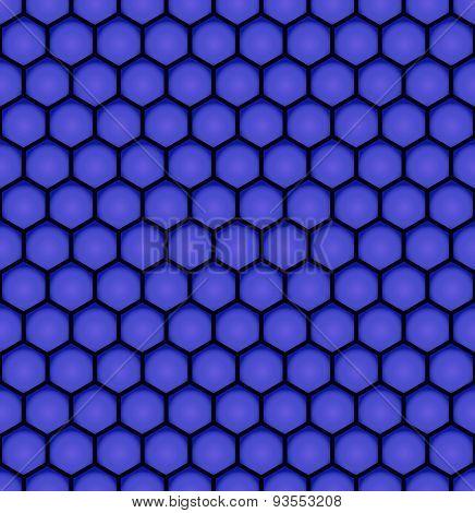 Blue Bee Honeycomb Design Seamless Pattern Eps10