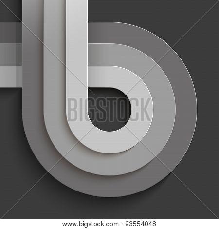 Infographics crossing grey paper circles