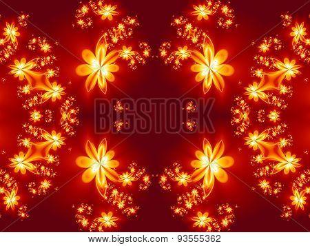 Flower Fire Pattern In Fractal Design.