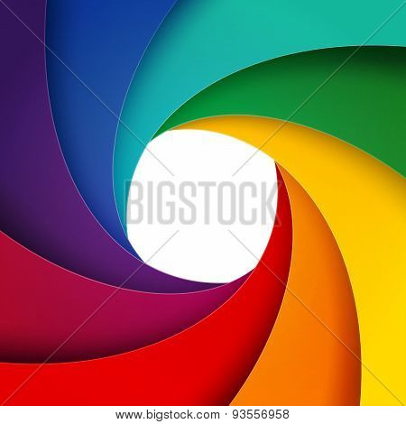 Swirly rainbow  paper layers background