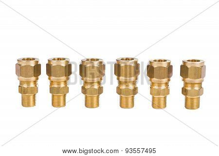 Fittings For Water Pipe Brass Joints, Close-up
