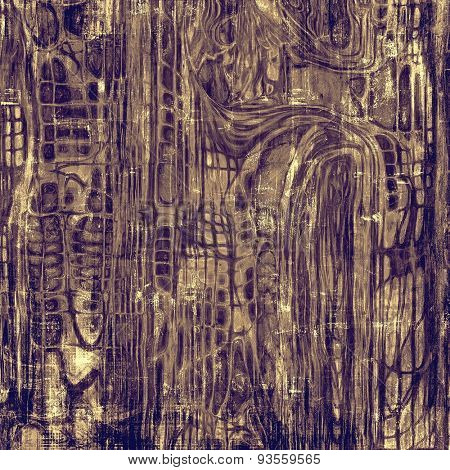Old grunge textured background. With different color patterns: yellow (beige); brown; gray; purple (violet)