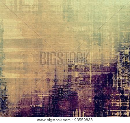 Grunge background with vintage and retro design elements. With different color patterns: yellow (beige); brown; gray; purple (violet)