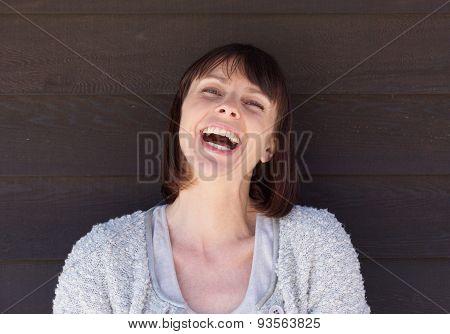 Beautiful Older Woman Laughing