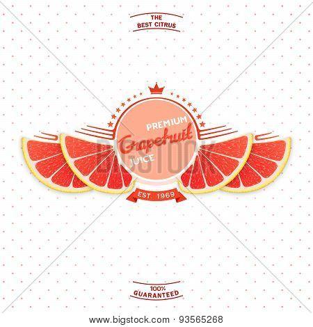 Premium quality grapefruit juice