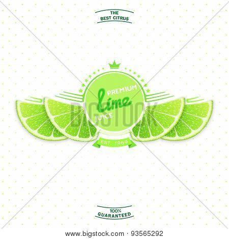 Premium quality lime juice