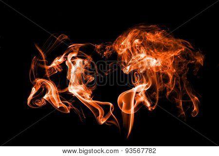 Smoke Isolated With Light