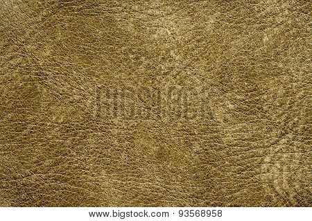 Natural Yellow Green Leather Texture
