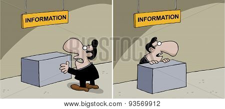 Cartoon about information