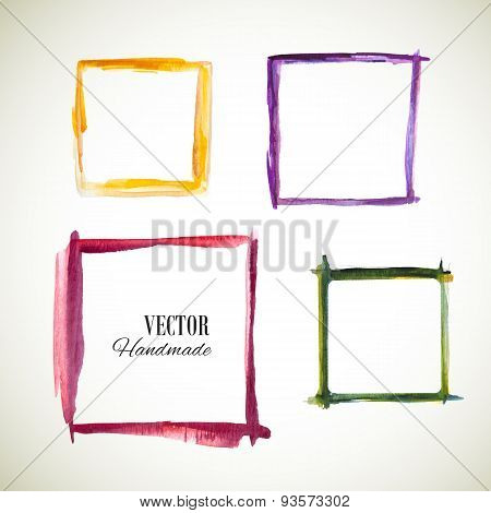 Vector watercolor set frame