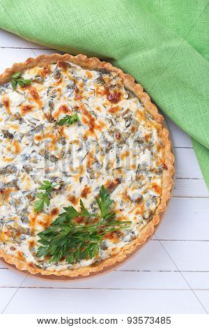 Tart With Cottage Cheese And Herbs