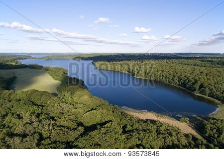 Aerial View Of Farum Lake, Denmark