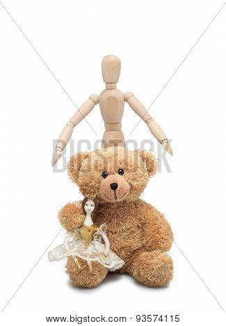 Doll, Teddy And Man