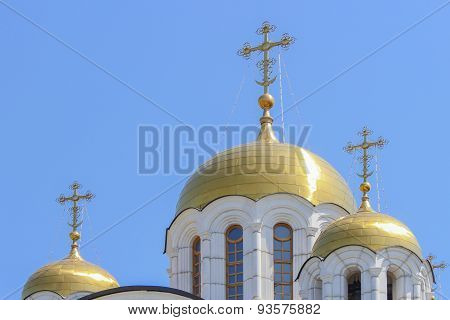 Crosses On The Golden Domes