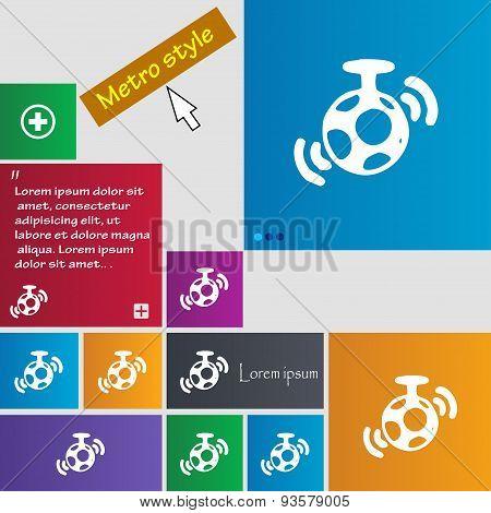 Mirror Ball Disco Icon Sign. Buttons. Modern Interface Website Buttons With Cursor Pointer. Vector