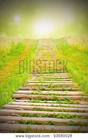 Stairway to heaven with vignette