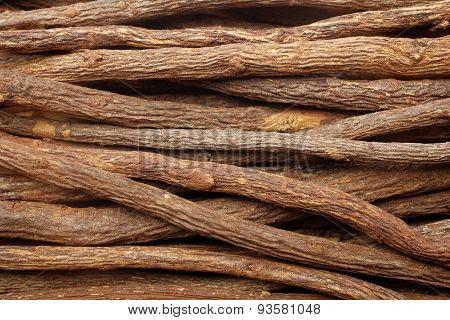 Liquorice Root Pieces Background