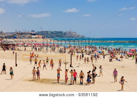The Beach Of Tel-aviv And Jaffa