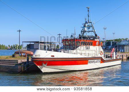 Rescue Boat Jenny Wihuri Stands Moored In Helsinki