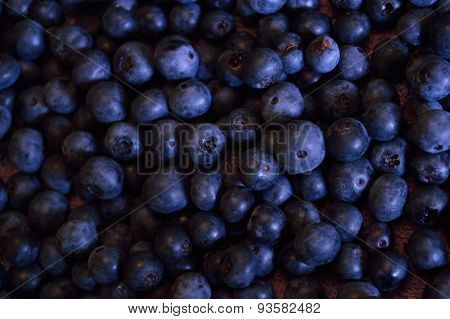 Candid Shot Of Wet Blueberries Drying Off