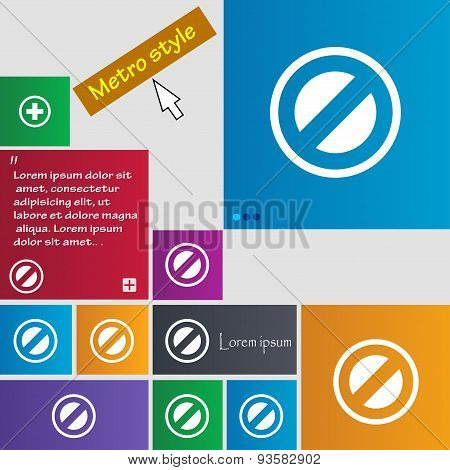 Cancel Icon Sign. Buttons. Modern Interface Website Buttons With Cursor Pointer. Vector