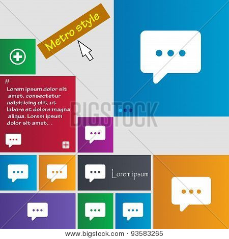 Cloud Of Thoughts Icon Sign. Buttons. Modern Interface Website Buttons With Cursor Pointer. Vector