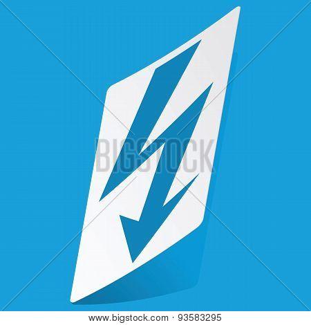 Voltage lightning sticker
