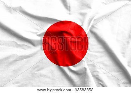 Japan Flag Cotton Texture