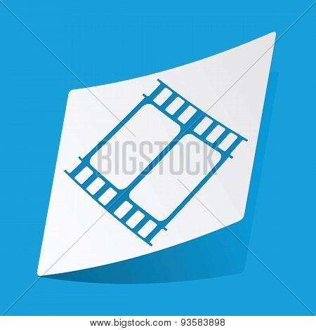 Movie sticker