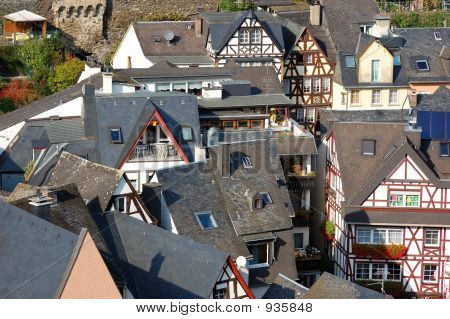 German Town With Typical Houses