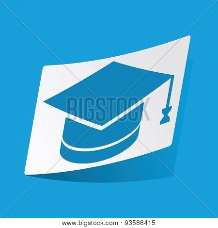 Academic hat sticker