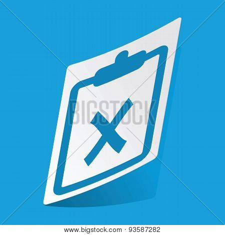 Clipboard NO sticker
