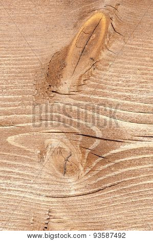 Natural Wood Texture, Table With Crack, Vertical Frame