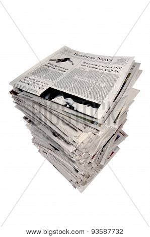Large Stack On Newspapers