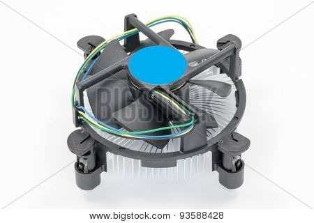 Computer Processor Cooling Fan On A Heatsink