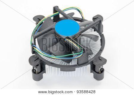Computer Processor Cooling Fan On A Heatsink