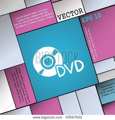 Dvd Icon Sign. Modern Flat Style For Your Design. Vector