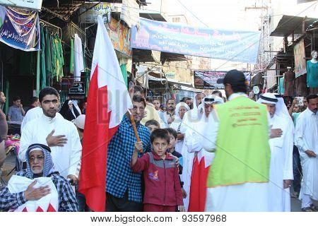 Bahrainis Shiite pilgrims
