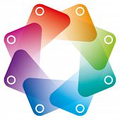 pic of octagon  - Colorful Octagon Symbol with transparent effect - JPG