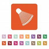 stock photo of shuttlecock  - The badminton icon - JPG
